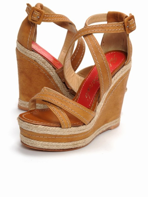 Brown Wedge Sandals